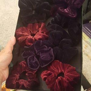 Velvet Scrunchies set of 8